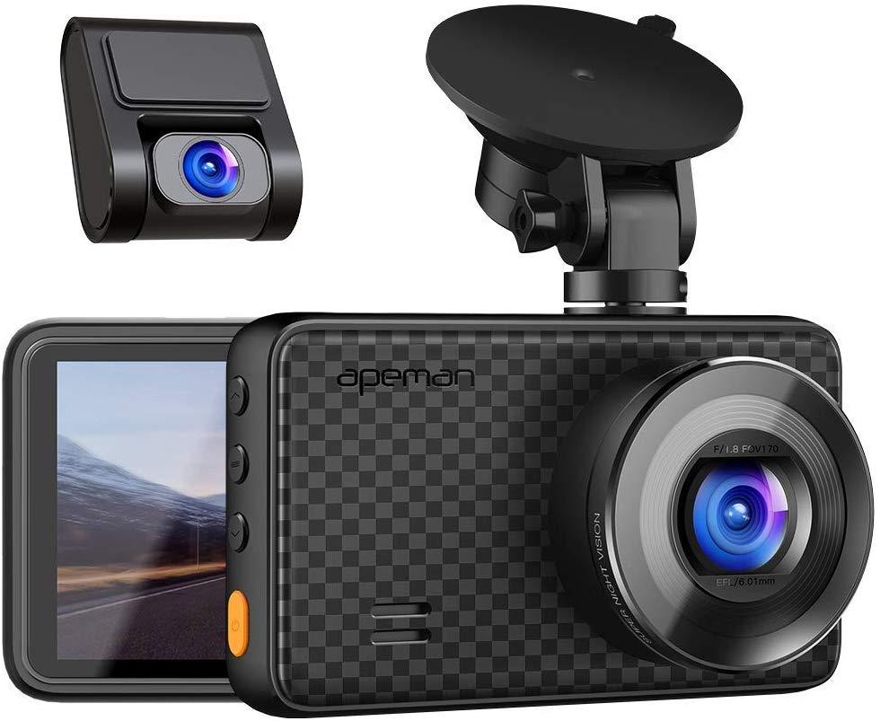 APEMAN 1440P*1080P Dual Dash Cam
