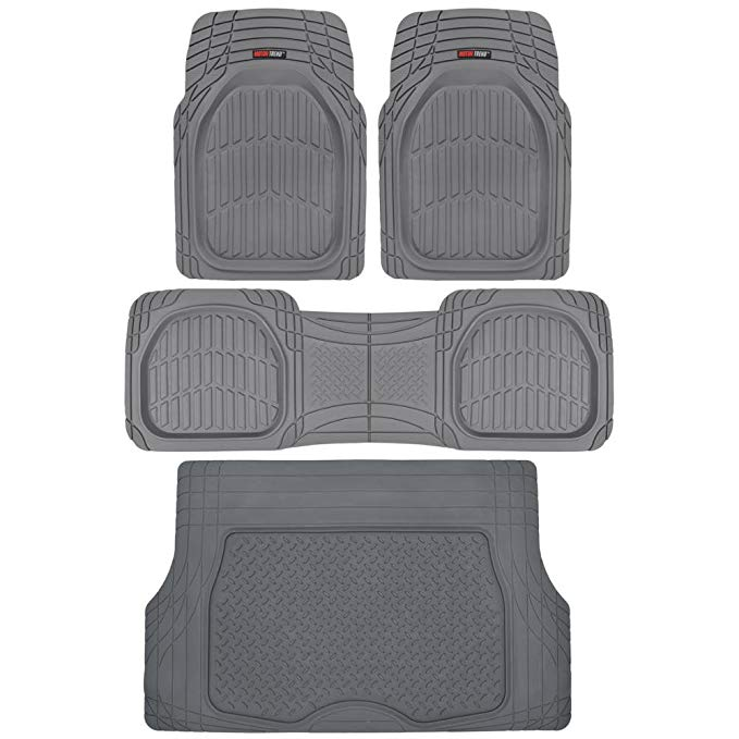 Motor Trend Rubber Tortoise Liners – Gray