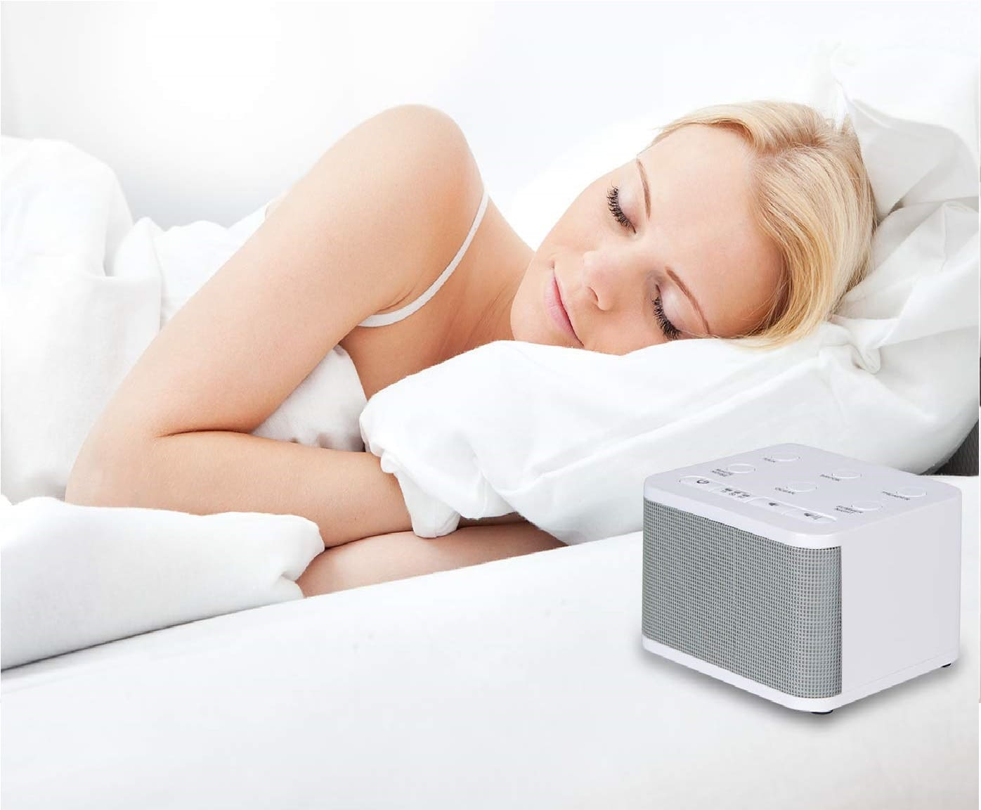 1.Big Red Rooster 6 Sound White Noise Machine Sleep Sound Machine for Sleeping 6 Soothing Sounds White Noise Machine for Office Privacy