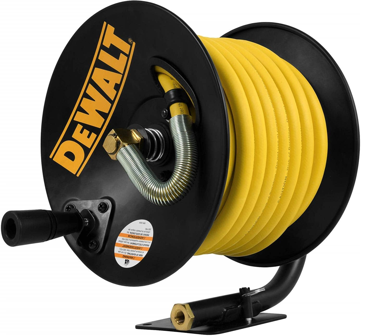 10.DeWalt DXCM024-0348 3 8 x 50' Manual Hose Reel with Rubber Hose