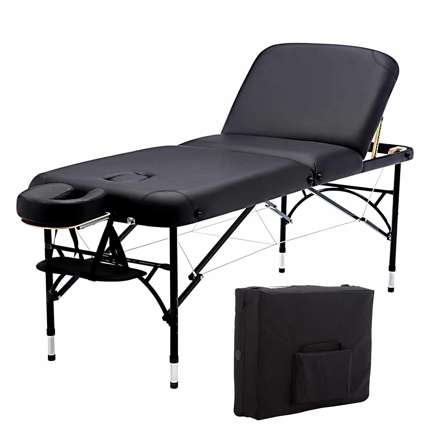 11.Artechworks 73 Long 28 Wide Professional 3 Folding Portable Massage Table Facial Salon Spa Tattoo Bed With Aluminium Leg