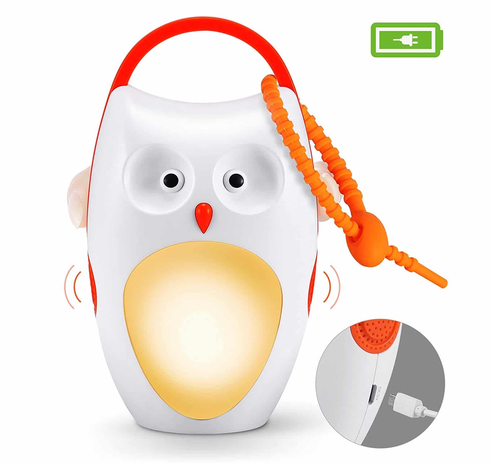 11.Baby Sleep Soother Shusher Sound Machines, Baby Gift, Rechargeable Portable White Noise Machine with Night Light, 8 Soothing Sounds