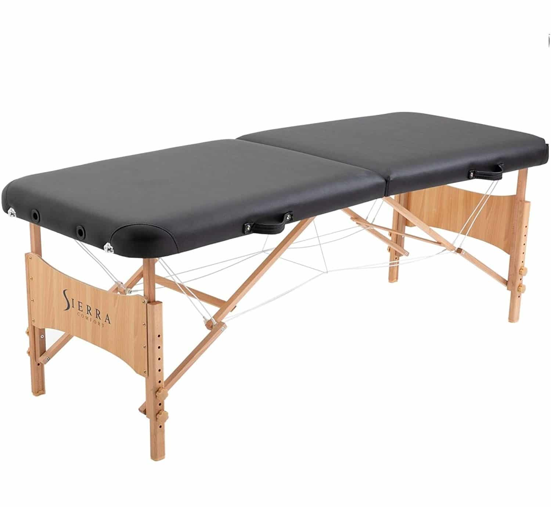 2.SierraComfort Basic Portable Massage Table, Black