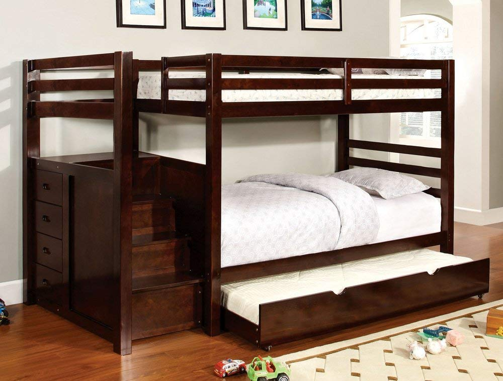 247SHOPATHOME Bunk bed with trundle