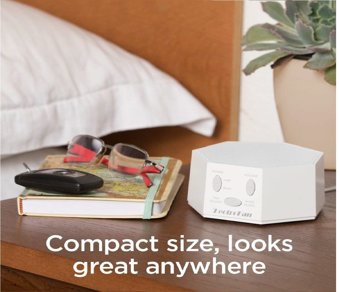 3.Adaptive Sound Technologies LectroFan High Fidelity White Noise Sound Machine with 20 Unique Non-Looping Fan and White Noise Sounds and Sleep Timer