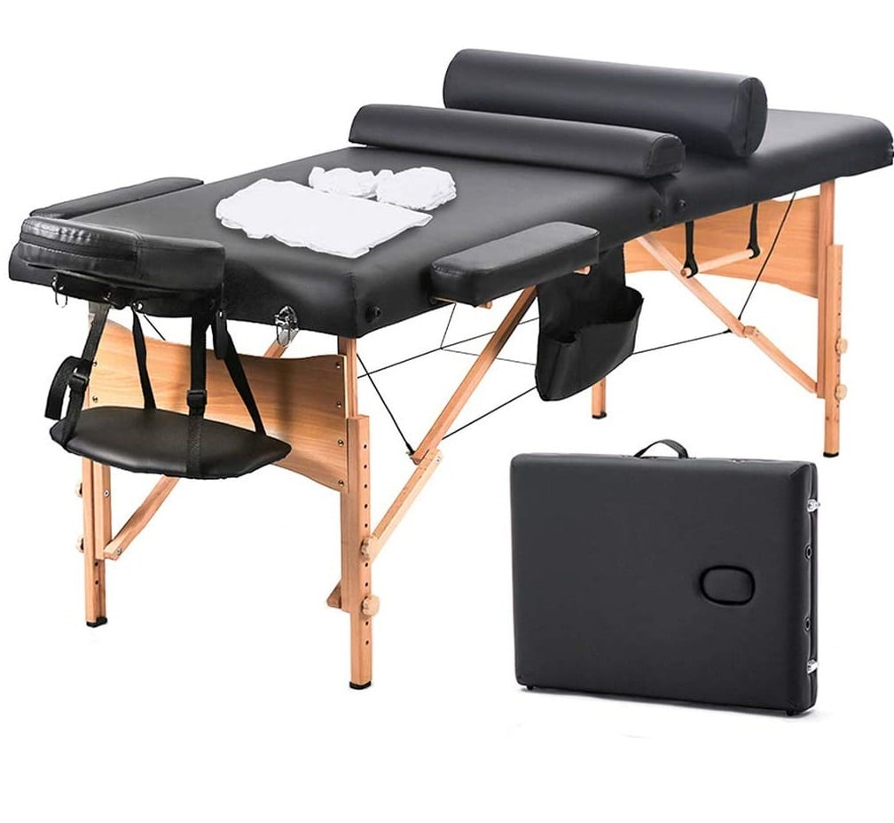 4.BestMassage Massage Table Massage Bed Spa Bed 73 Inch Heigh Adjustable 2 Fold Portable Massage Table