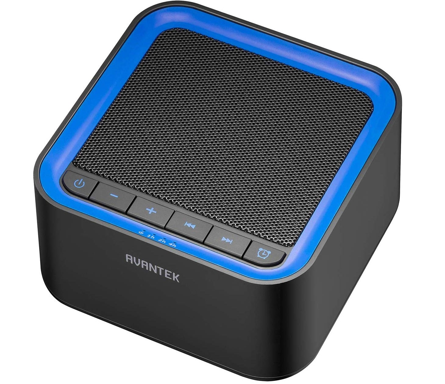 5.AVANTEK White Noise Sound Machine for Sleeping, 20 Non-Looping High Fidelity Soothing Sounds with 30 Levels of Volume, 7 Timer Settings and Memory Function