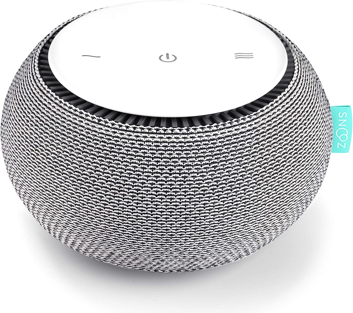 7.SNOOZ White Noise Sound Machine - Real Fan Inside for Non-Looping White Noise Sounds - App-Based Remote Control, Sleep Timer, and Night Light - Cloud