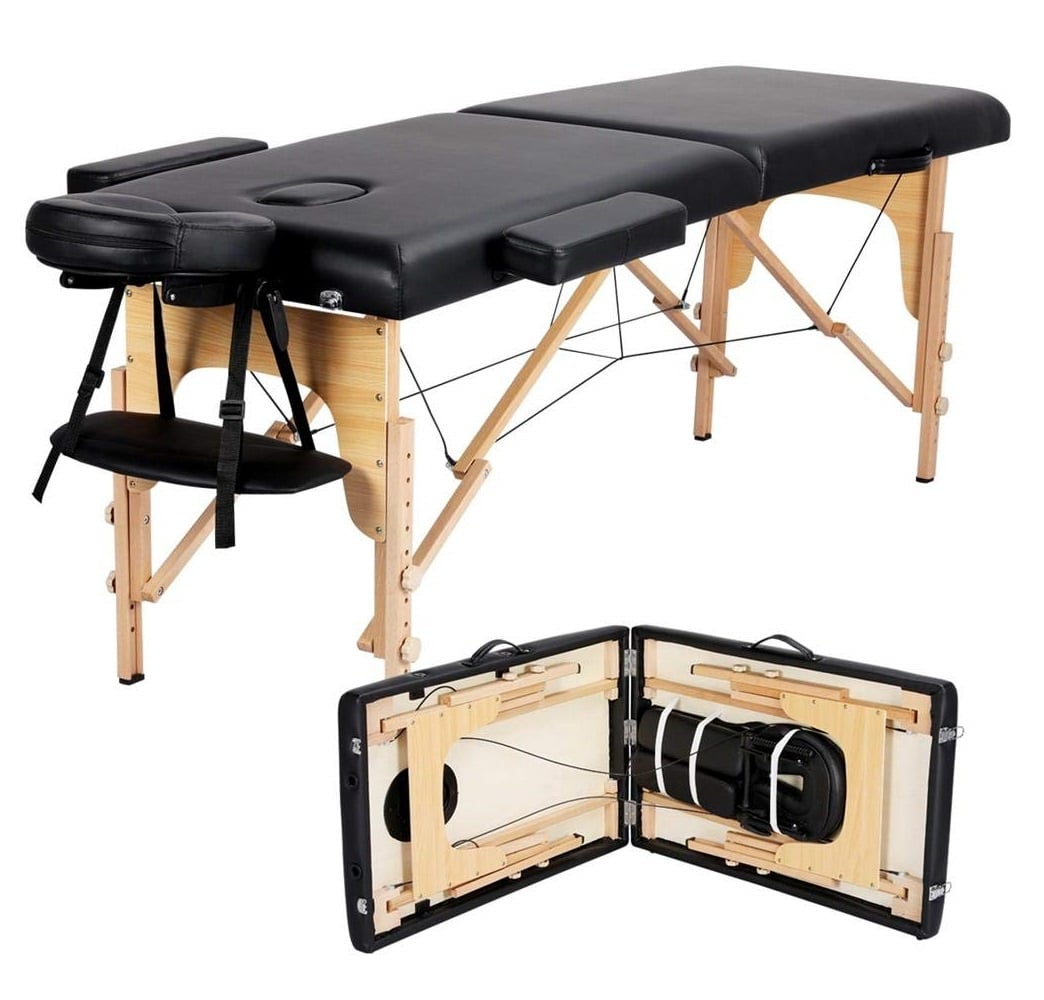 8.Yaheetech Massage Table Portable Massage Bed Spa Bed 84 Inch Adjustable 2 Fold Salon Bed Face Cradle Bed with Carrying case