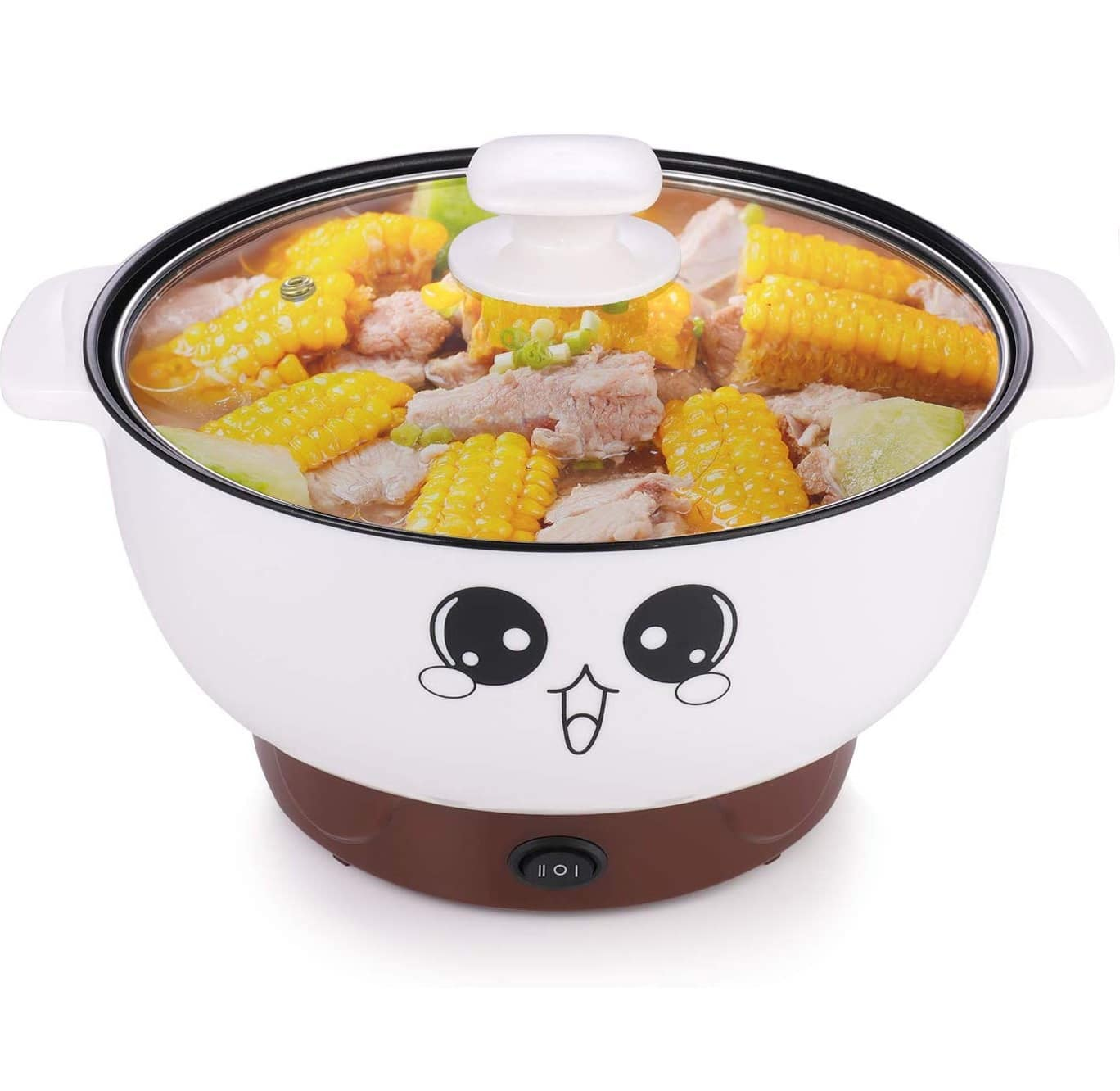 9.MINGPINHUIUS 4-in-1 Multifunction Electric Cooker Skillet Wok Electric Hot Pot For Cook Rice Fried Noodles Stew Soup Steamed Fish Boiled Egg