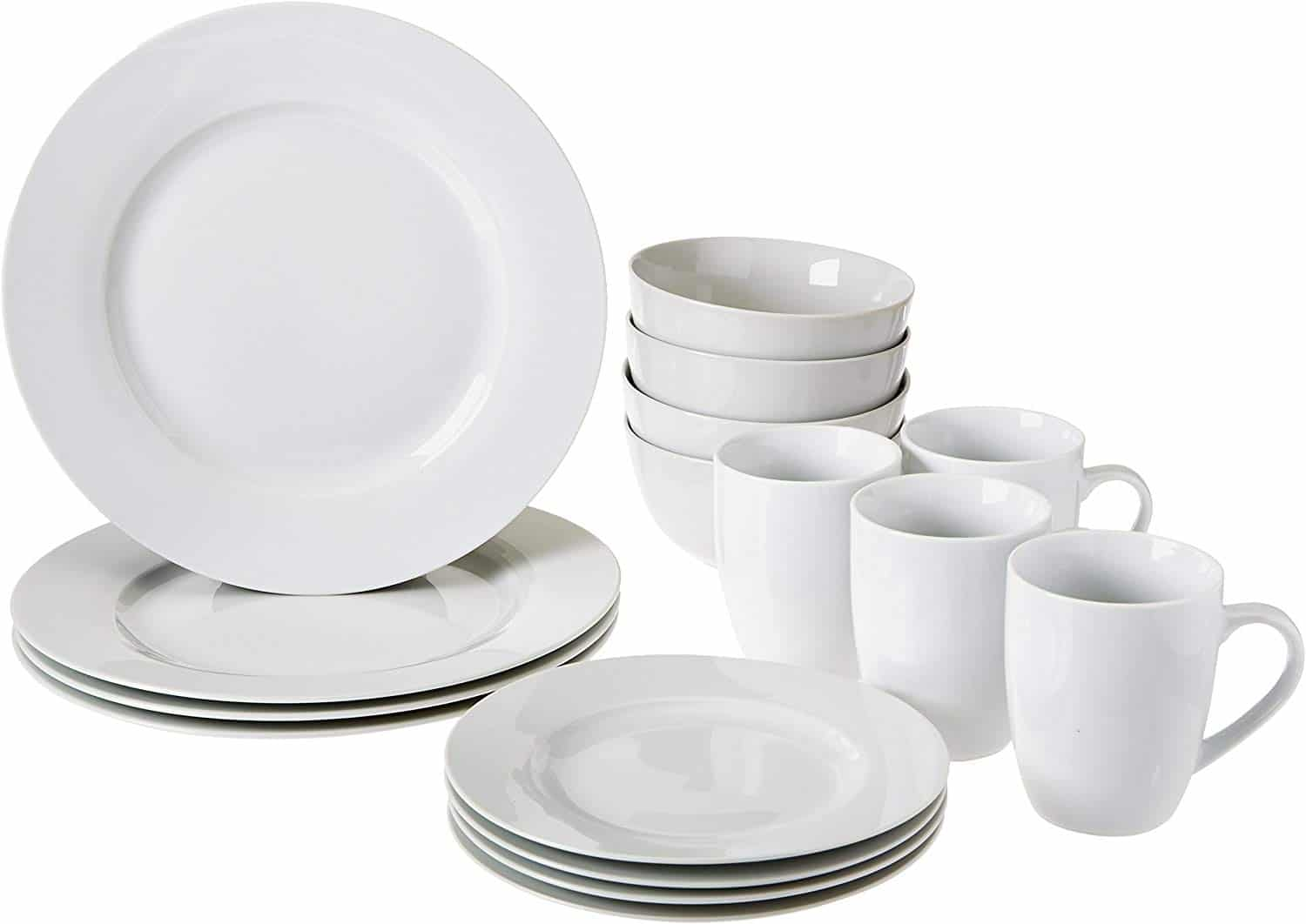 AmazonBasics dinner set