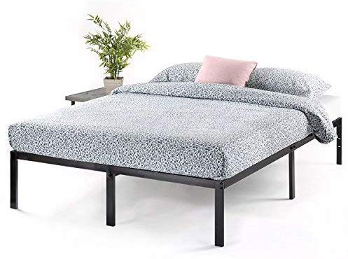 "Best Price Mattress Twin Bed Frame - 14"" Metal Platform Bed Frame w/Heavy Duty Steel Slat Mattress Foundation"