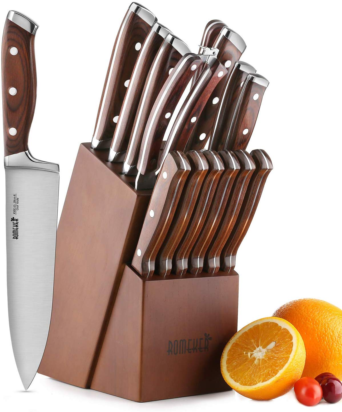 Knife Set ,15-Piece Kitchen Knife Set