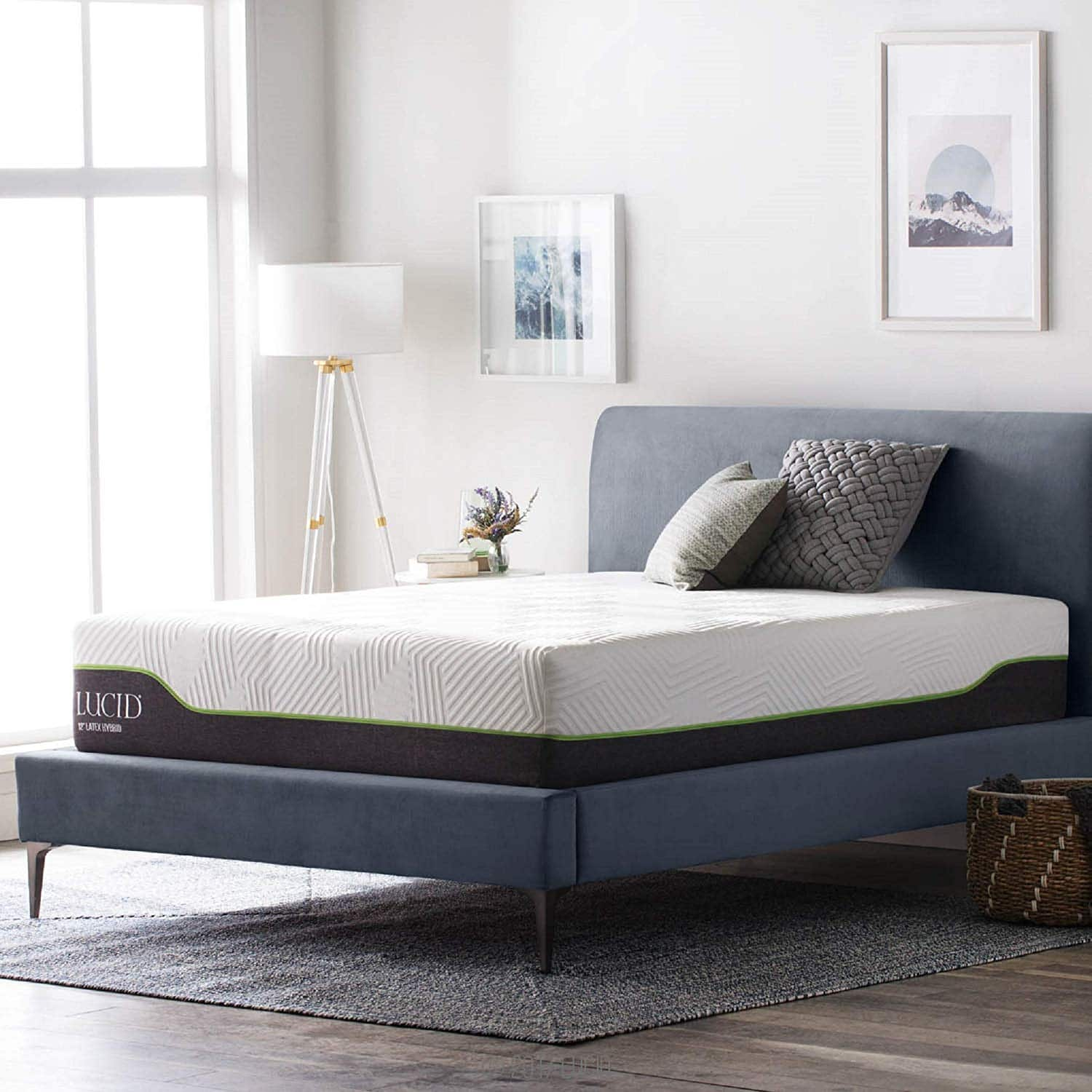 Lucid 12 Inch Full Latex Hybrid Mattress