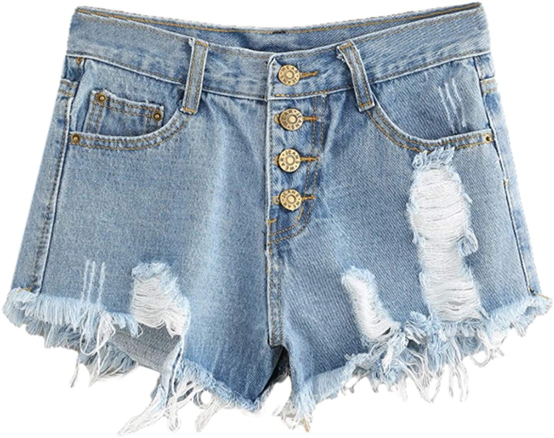 MAKEMECHIC Women's Frayed shorts