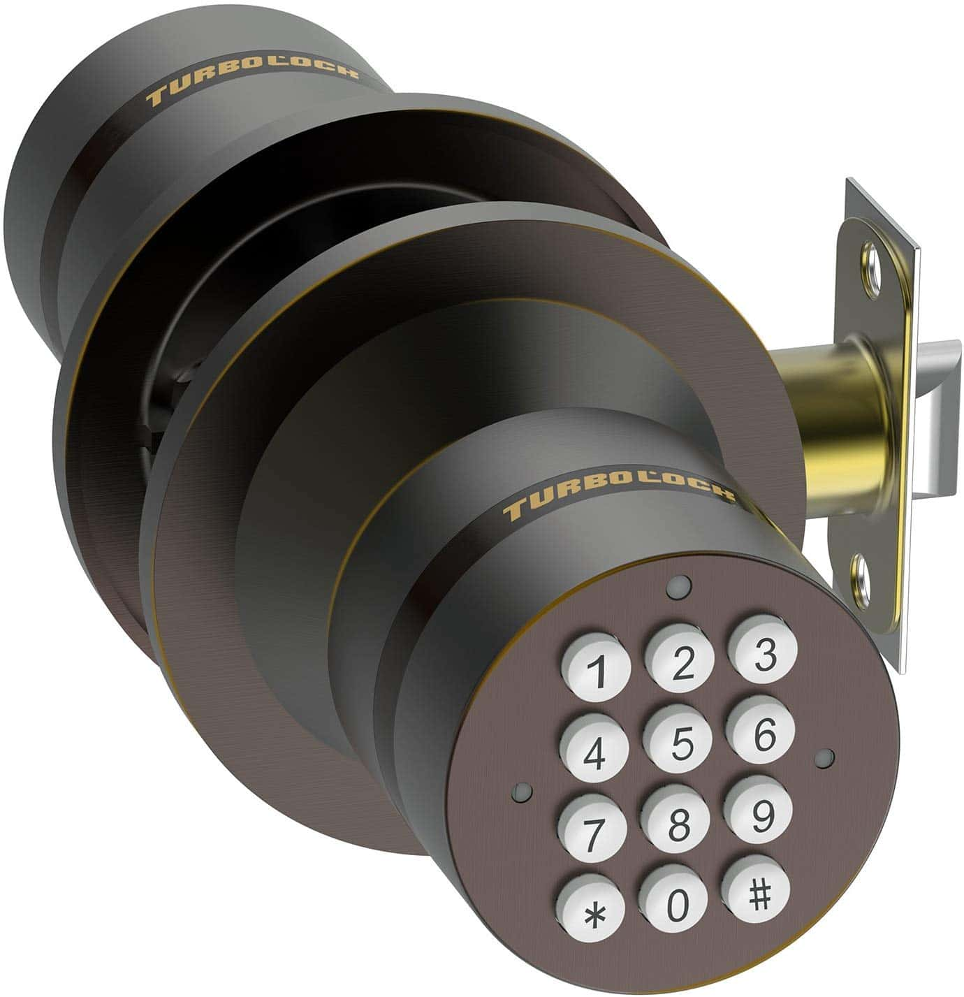 TurboLock Keyless Electronic Keypad Door Lock.
