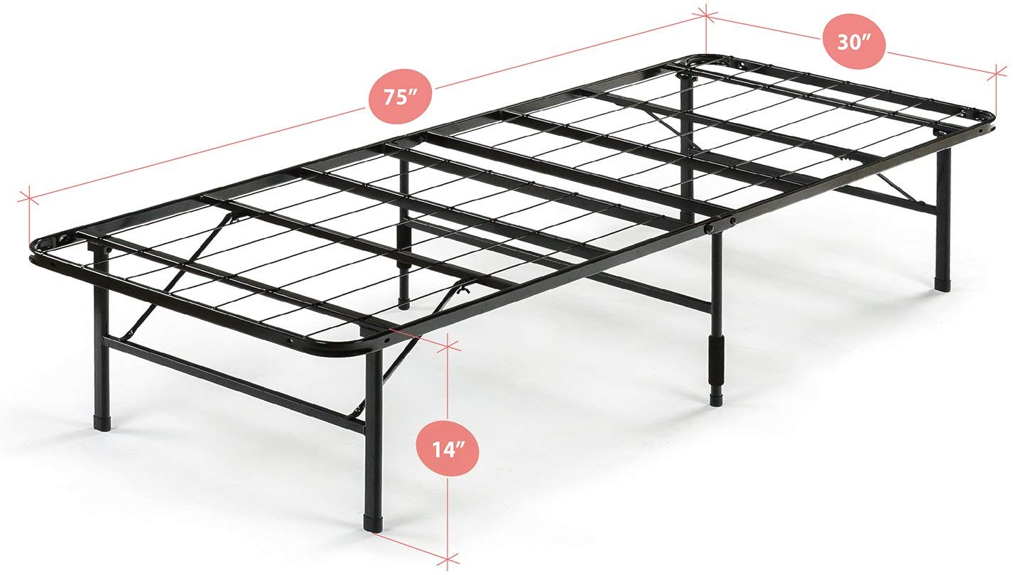 Zinus Shawn 14 Inch SmartBase Mattress Foundation in Narrow Twin