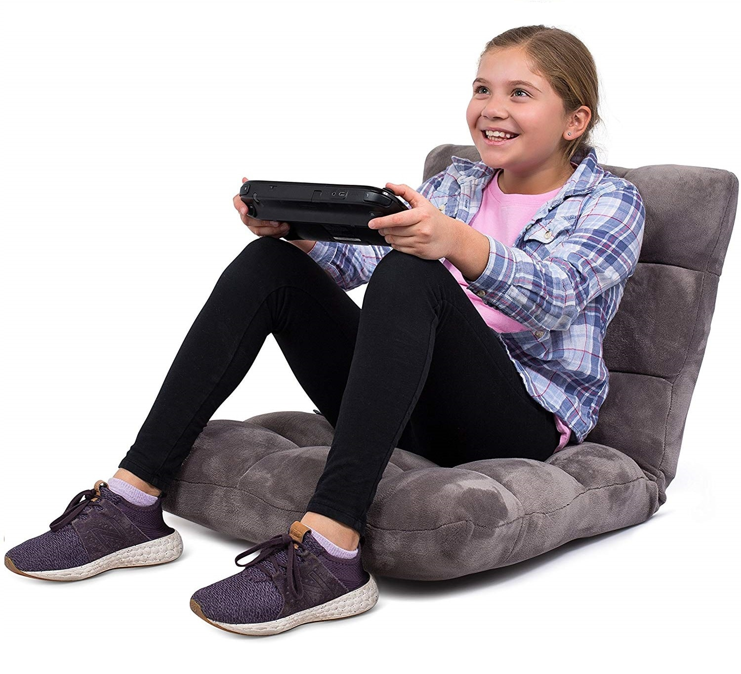 1.BIRDROCK HOME Adjustable 14-Position Memory Foam Floor Chair - Padded Gaming Chair - Comfortable Back Support