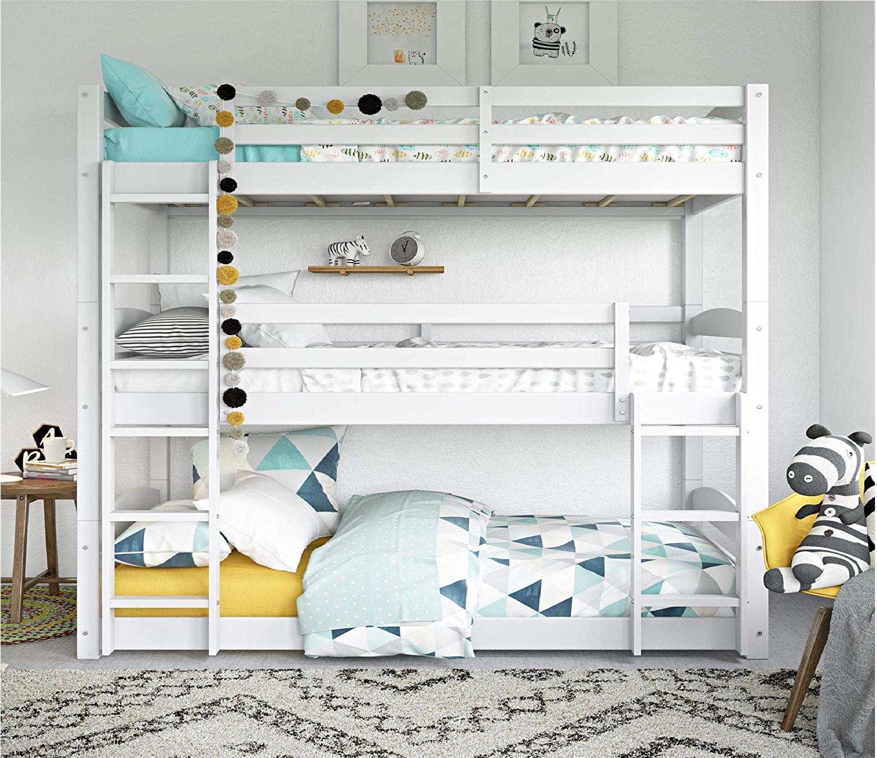 1.Dorel Living Phoenix Triple Floor Bunk Bed