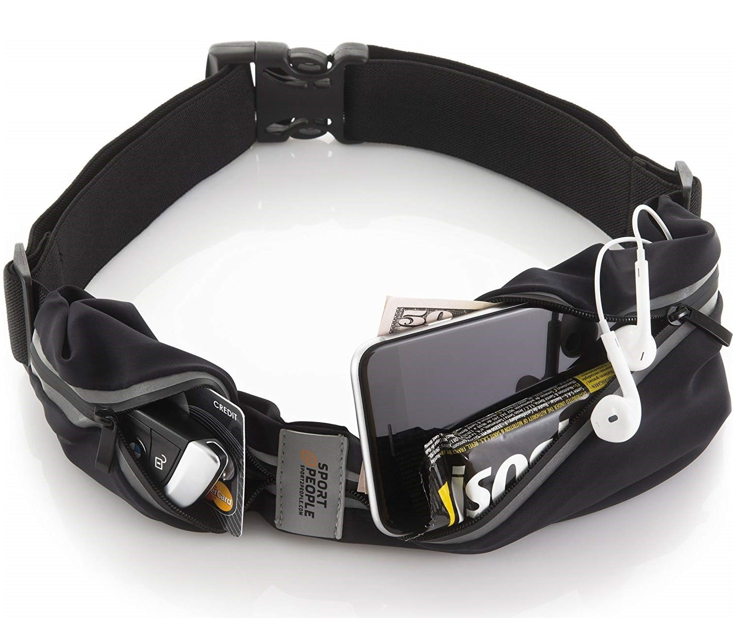1.Sport2People Running Pouch Belt, USA Patented, Runner Waist Pack iPhone X 6 7 8 for Men and Women