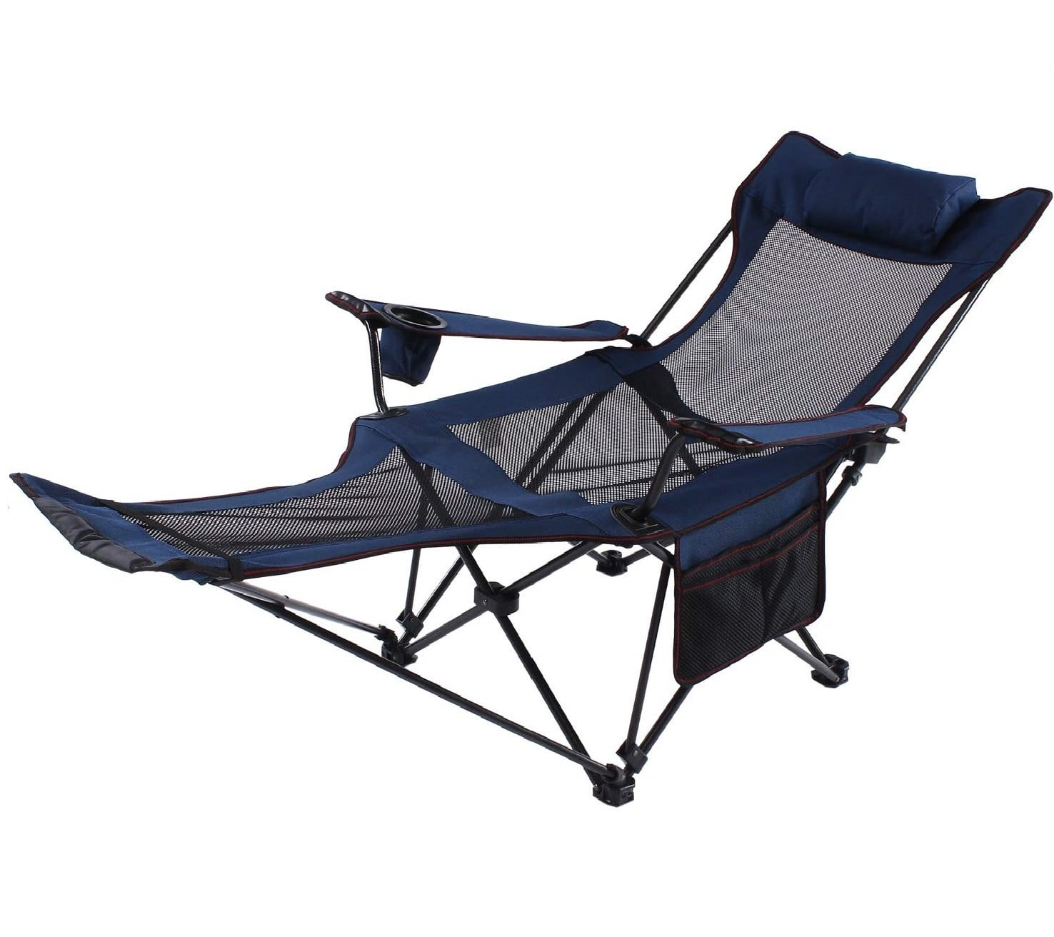 11. Seatopia Recliner Folding Lounge Chair with Backpacking and Storage Bak - Outdoor Lounge Chair Plus Headrest and Footrest