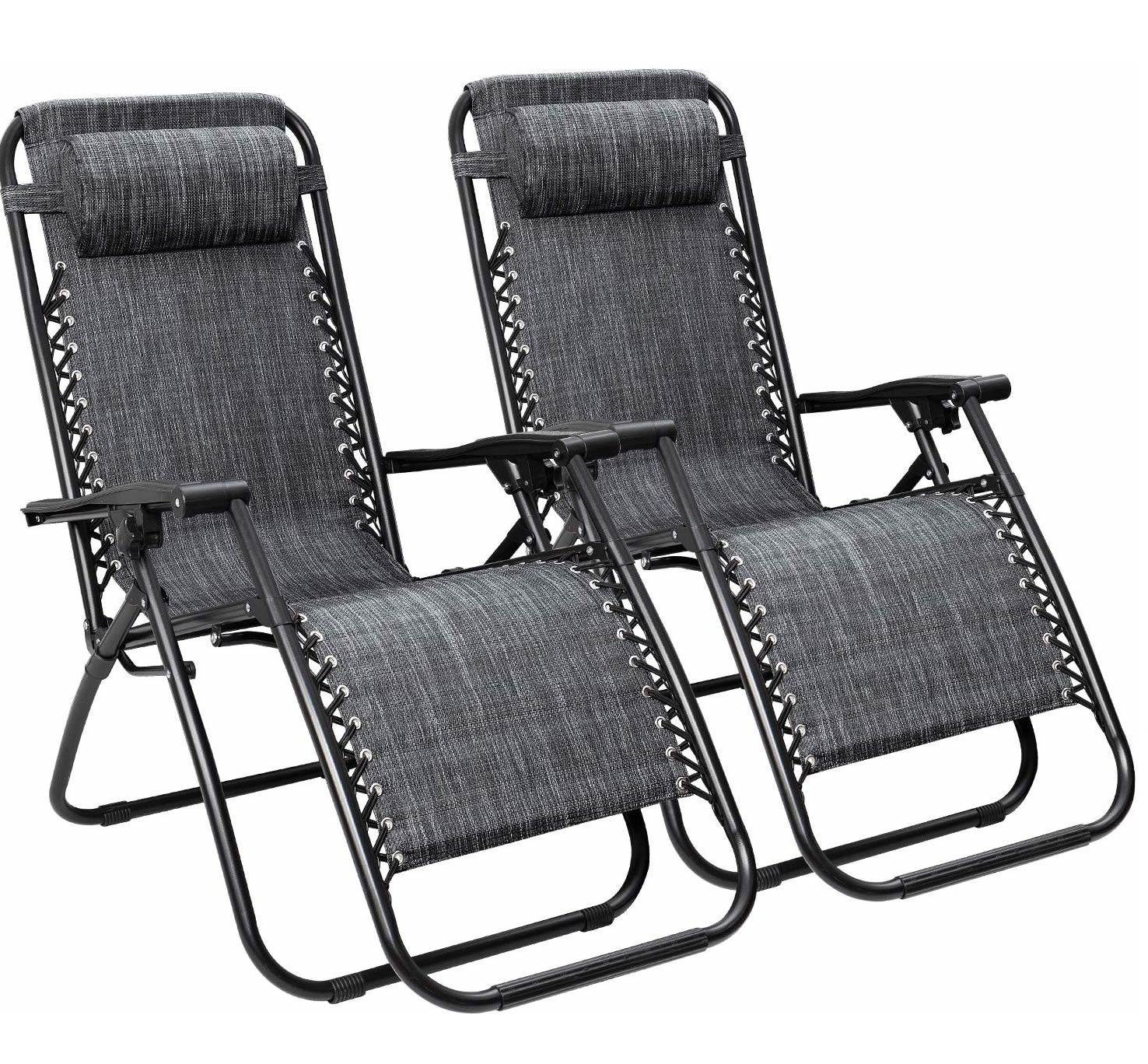 12. Flamaker Folding Lounge Chair with Pillow - Zero Gravity Outdoor Lounge Chairs
