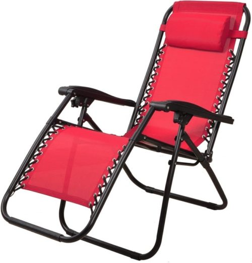 15. BalanceFrom Adjustable Folding Lounge Chairs for Patio, Zero Gravity Outdoor Lounge Chairs