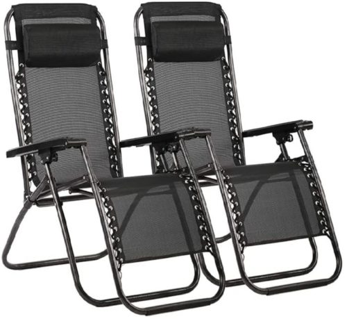 17. FDW Folding Lounge Chairs with Adjustable Folding Recliner Set - Outdoor Lounge Chair for Pool and Beach Side