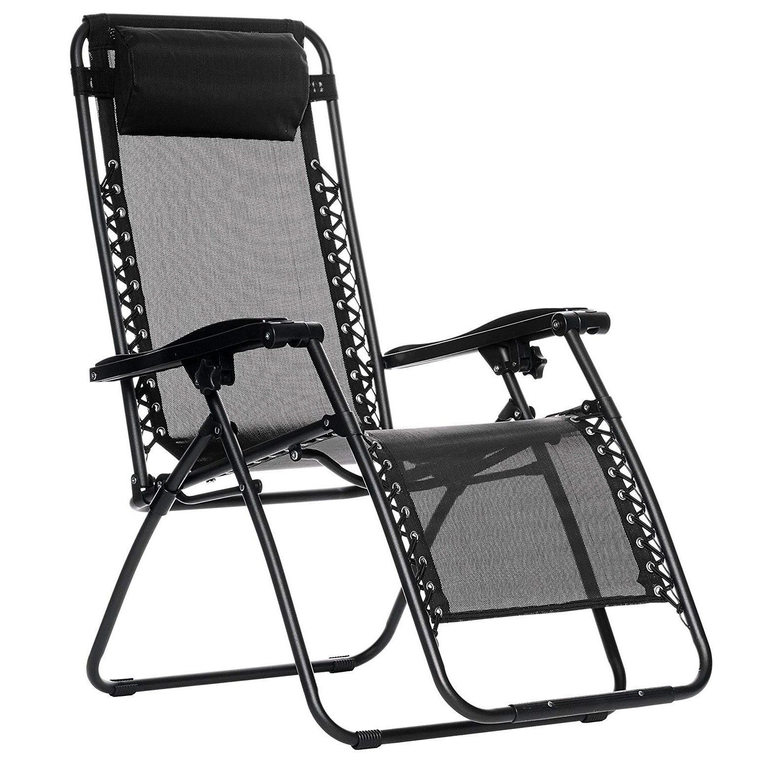 4. AmazonBasics Outdoor Folding Lounge Chair with Zero Gravity- Best Amazon Outdoor Lounge Chairs