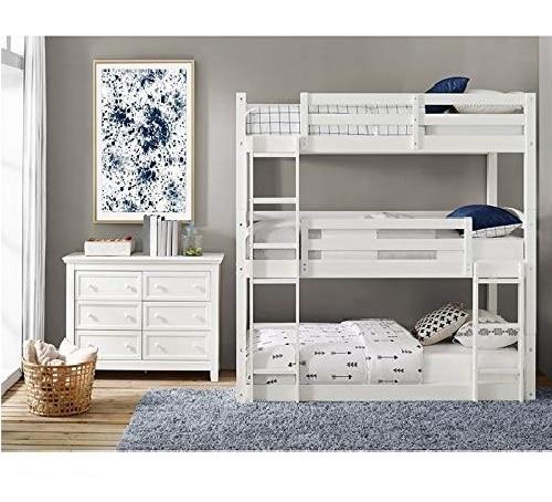 4.Dorel Living Sierra Twin Triple Bunk Bed