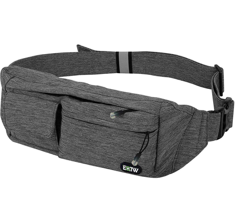 4.EOTW Fanny Pack Waist Bag Travel Pocket Chest Shoulder Bag Running Belt with Separate Pockets, Adjustable Band for Workout Vacation