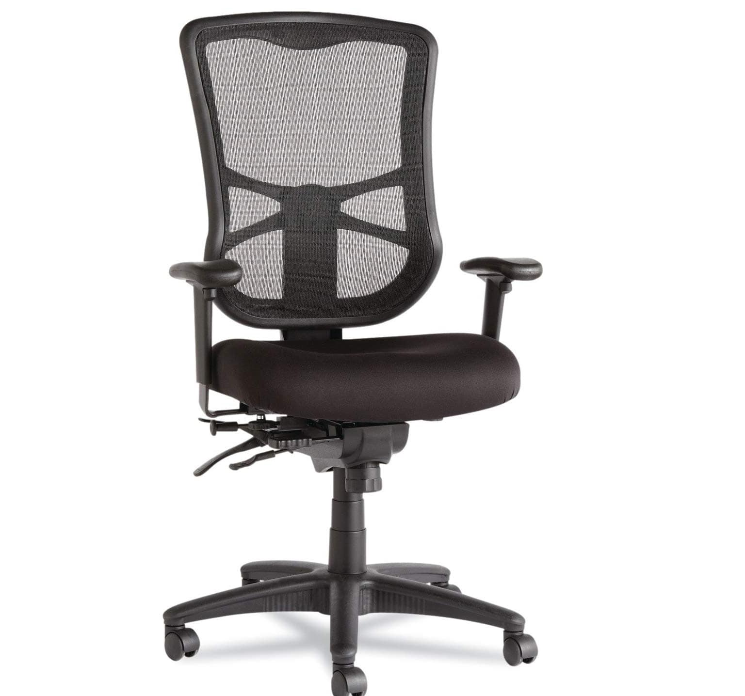 7.Alera Elusion Series Mesh High-Back Multifunction Chair, Black