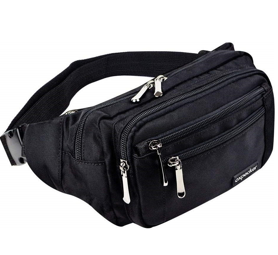 7.oxpecker Waist Pack Bag with Rain Cover, Waterproof Fanny Pack for Men&Women, Workout Traveling Casual Running Hiking Cycling