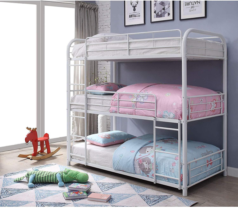 8.ACME Furniture Cairo Triple Twin Bunk Bed