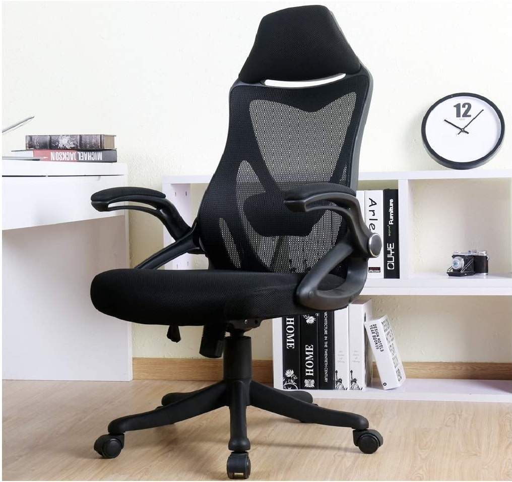 8.BERLMAN Ergonomic High Back Mesh Office Chair with Adjustable Armrest Lumbar Support Headrest Swivel Task Desk Chair Computer Chair Guest Chairs Reception Chairs