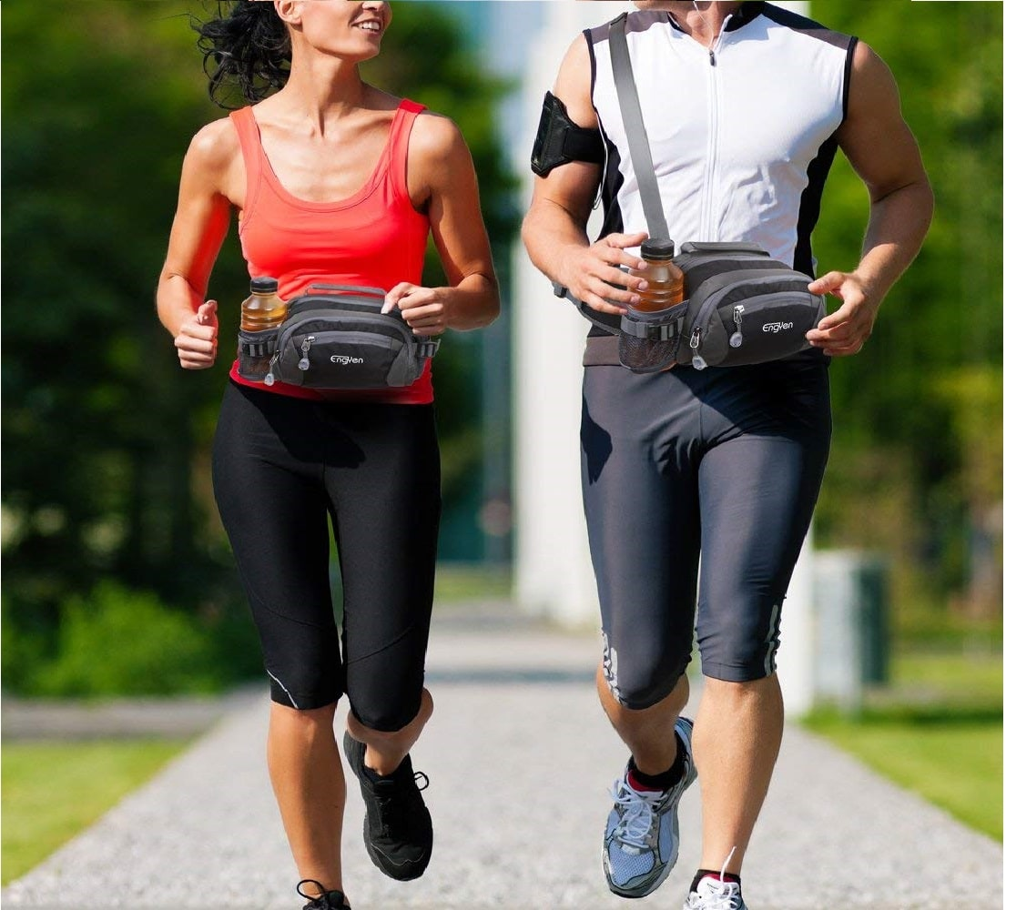 8.ENGYEN Fanny Pack Waist Bag for Women Men, Running Packs Gear with Phone Water Bottle Holder Adjustable Belt, for Travel Workout Hiking