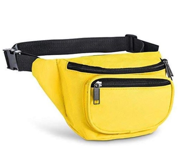 9.Fanny Pack, AirBuyW 3 Zippered Compartments Adjustable Waist Sport Fanny Pack Bag