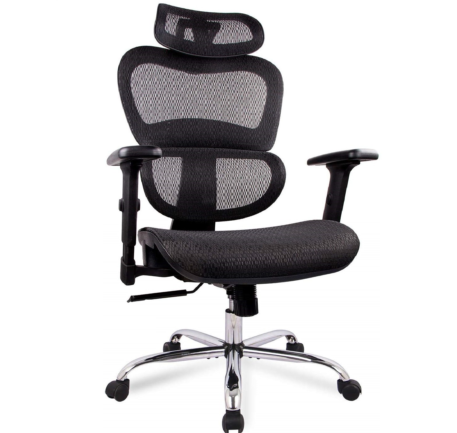9.Office Chair, Ergonomics Mesh Chair Computer Chair Desk Chair High Back Chair w Adjustable Headrest and Armrest