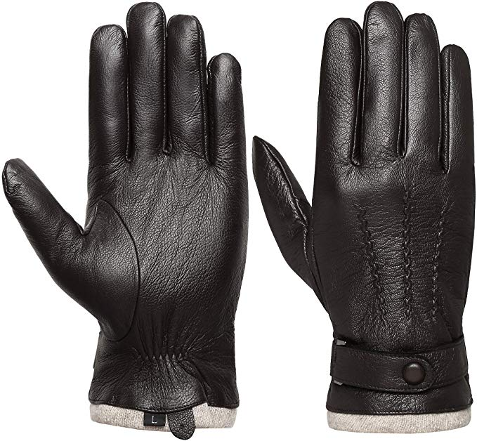 Acdyion Men's Genuine Leather Driving Gloves