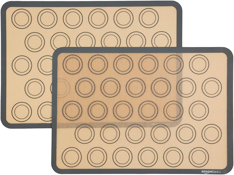 AmazonBasics Silicone Macaron Baking Mat, 2-Pack
