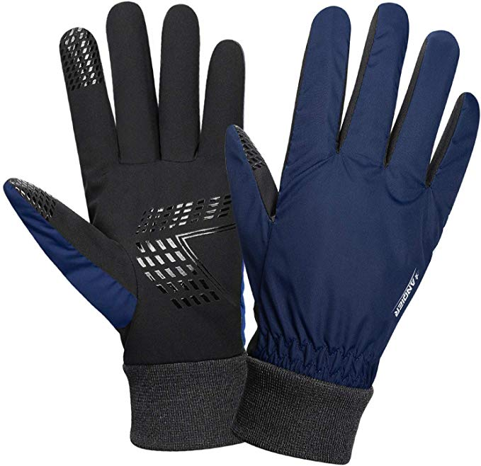 Anqier gloves winter Driving Gloves