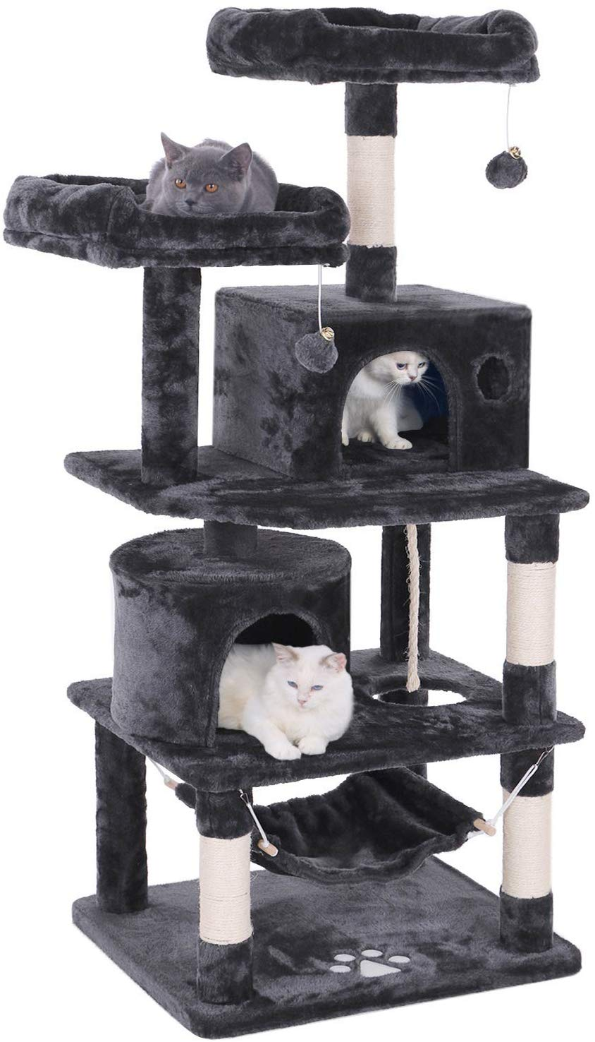 BEWISHOME Cat Tree Playhouse Condo