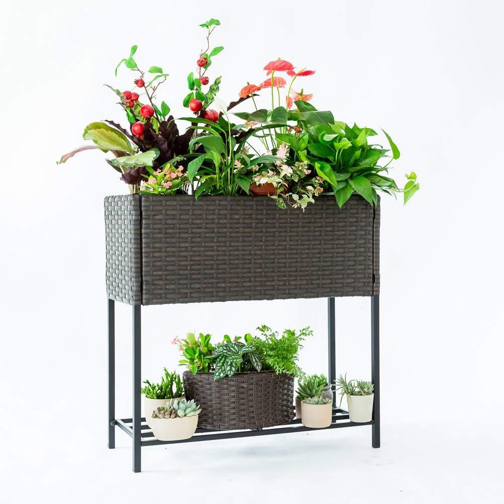 C-Hopetree 2-Tier Raised Plant Stand
