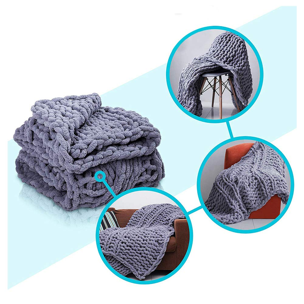 Chunky Knit Blanket by Pusunas