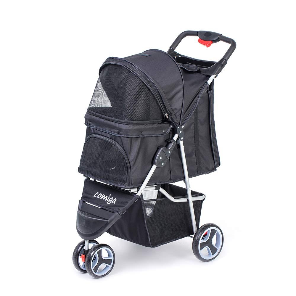 Comiga Pet Stroller, 3-Wheel Cat Stroller