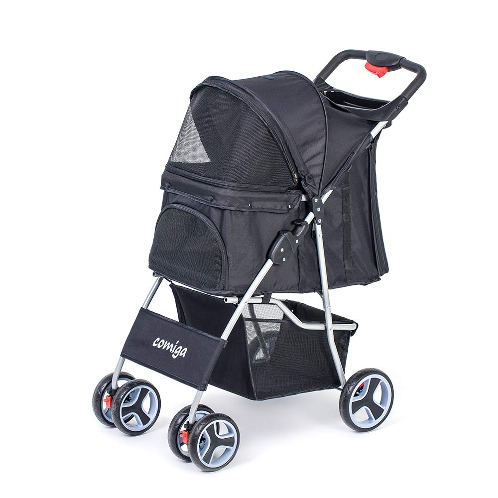 Comiga Pet Stroller, 4-Wheel Cat Stroller