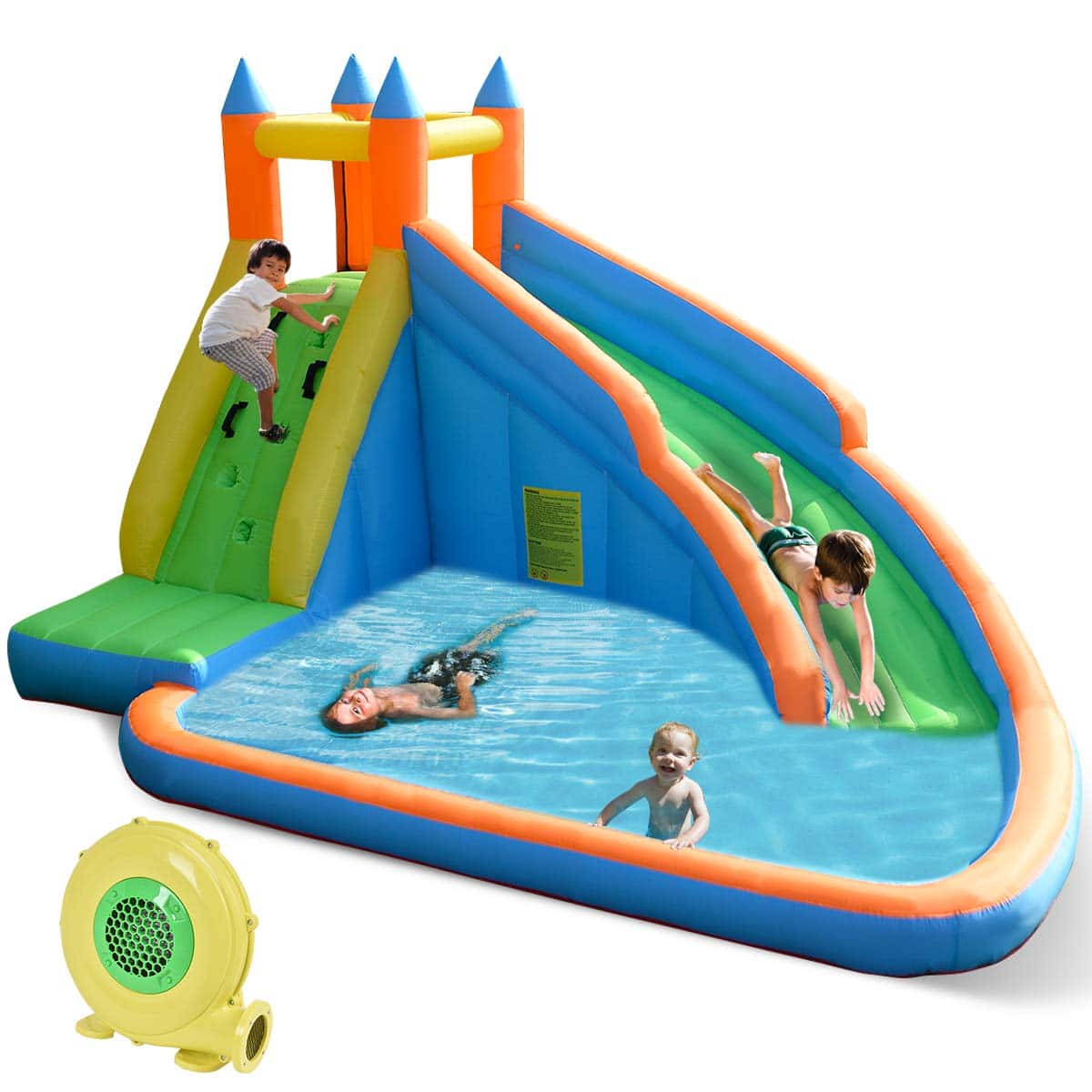 Costzon Inflatable Slide Bouncer