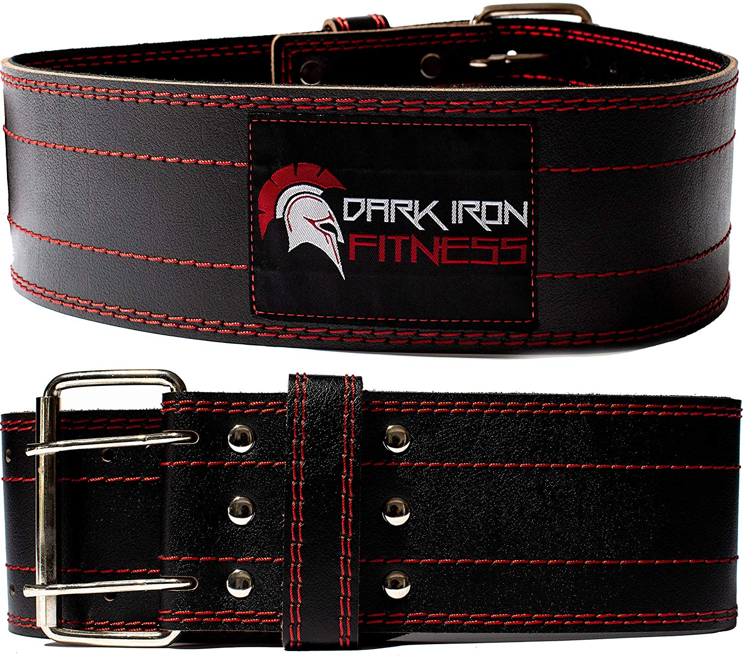 Dark Iron Fitness Men and Women Leather Pro Weight Lifting Belt