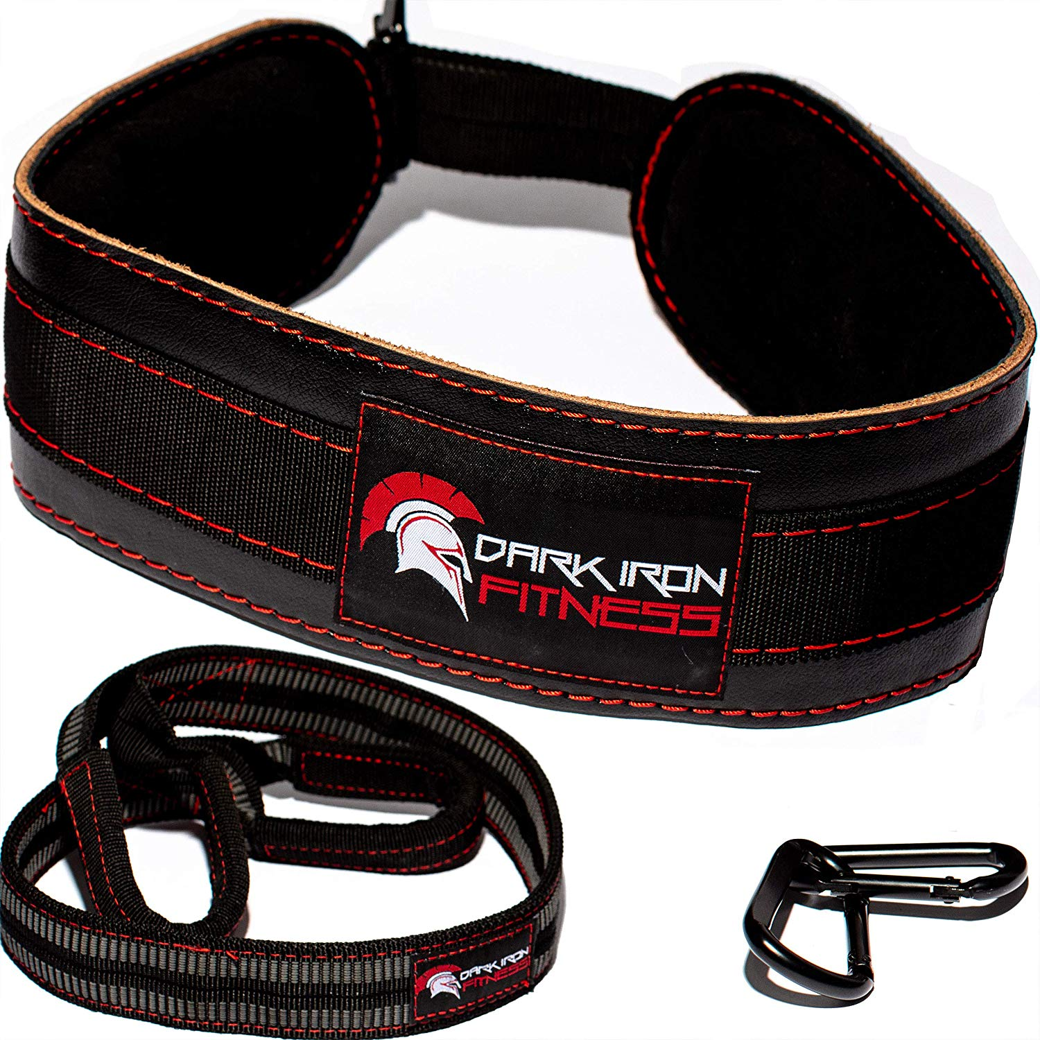 Dark Iron Fitness Weight Lifting Leather Dip Belt