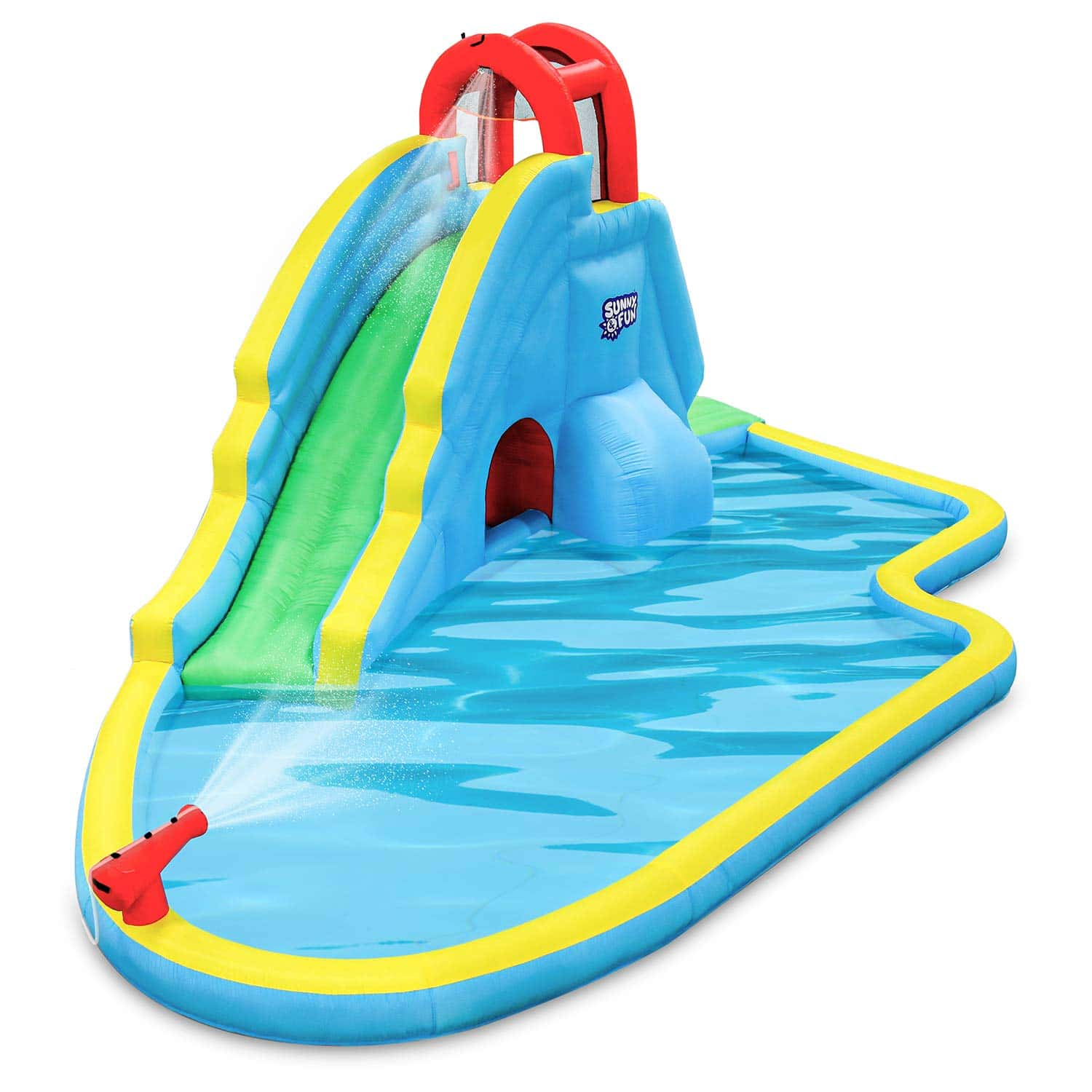 Deluxe Inflatable Water Slide Park by Sunny & Fun